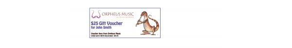 Orpheus Music Gift Voucher $25