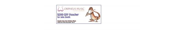 Orpheus Music Gift Voucher $200