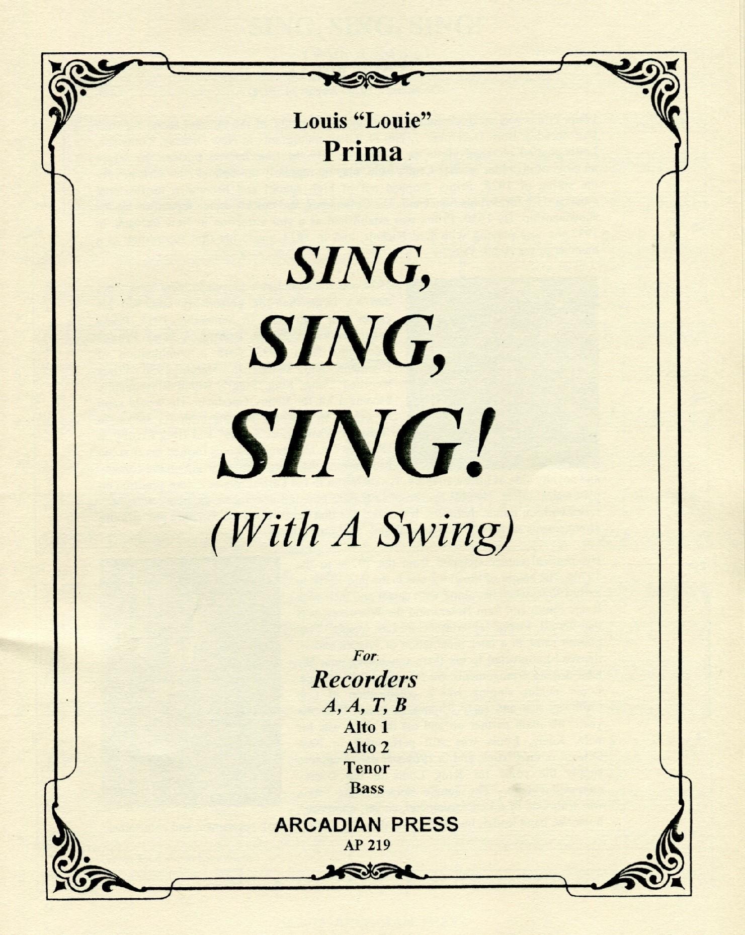 Sing Sing Sing With A Swing Orpheus Music