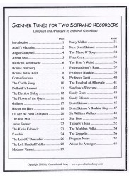 Skinner Tunes for Two Soprano Recorders