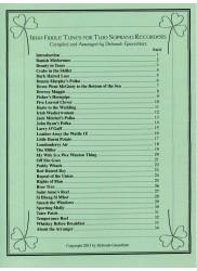 Irish Fiddle Tunes for Two Soprano Recorders