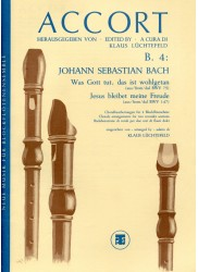 Two Bach Cantata Extracts for Recorder Choir