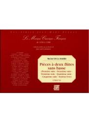 Pièces à deux flûtes sans basse (livres 1 à 6, 1709-1714)