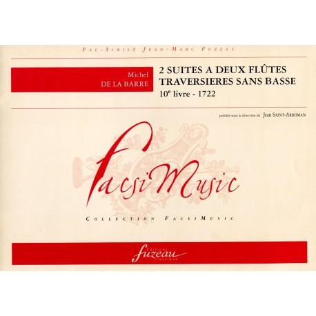 2 Suites a Deux Flutes Traversieres sans Basse 10e Livre, 1722