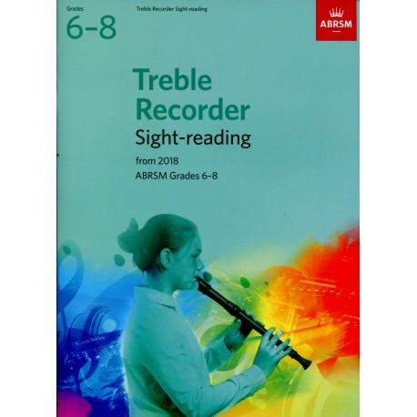 Treble Recorder Sight-Reading Grades 6-8 ABRSM