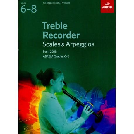Treble Recorder Scales & Arpeggios Grades 6-8 ABRSM