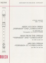 "Arias from the Operas ""Vespasian"" and ""Coriolanus"""