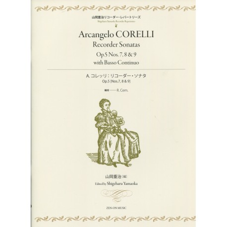 Corelli Recorder Sonatas Op.5 No. 7, 8 and 9