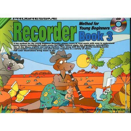 Progressive Recorder Method for Your Beginner Book 3