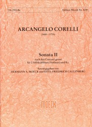 Sonata 2 after Concerto Grossi for Two Recorders