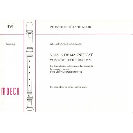 Versos de Magnificat, Versos del Sexto tono, 1578