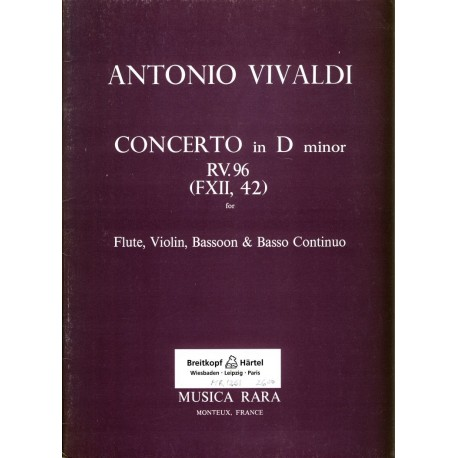 Concerto in d minor RV96, FXII. 42