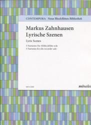 Lyric Scenes 3 Fantasias for Alto recorder