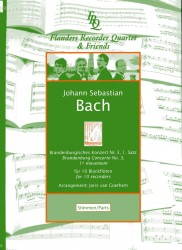 Brandenburg Concerto No 3, BWV1048 1st Movement