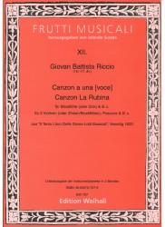 Canzon a una voce & La Rubina
