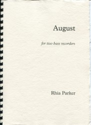 August for two bass recorders