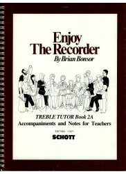Enjoy The Recorder Treble Tutor 2A Accompaniments and Notes for Teachers