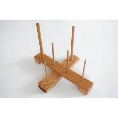 Handmade Cross Recorder Stand - oak (large size)