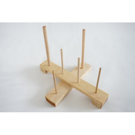 Handmade Cross Recorder Stand - Maple (standard compartment)
