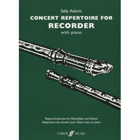 Concert Repertoire for Recorder