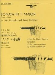 Sonata in F Major Op 3 No 8