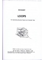 Loops for Improvising Recorder Players and Computer Tape