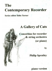 A Gallery of Cats, Concertino for Recorder & String Orchestra (or piano)