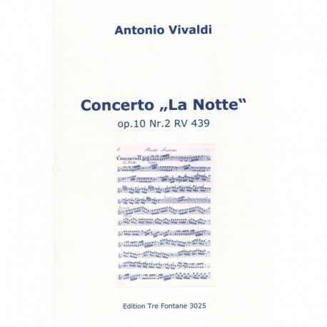 La Notte Op 10, No 2, RV 439