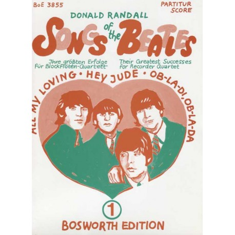 Songs of the Beatles for Rcorder Quartet - Book 1