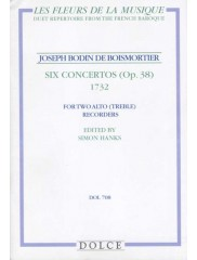 Six Concertos (Op. 38) for two Treble Recorders