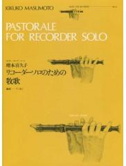 Pastorale For Recorer Solo