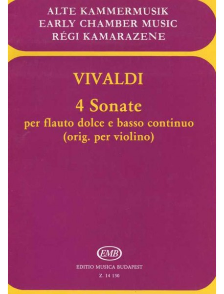 Early Chamber Music - 4 Vivaldi Sonatas
