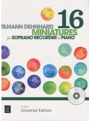 16 Miniatures for Descant Recorder & Piano