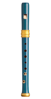 Adri's Dream Descant Recorder in Blue Pearwood