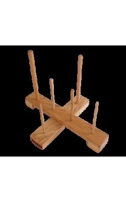 Handmade Cross Recorder Stand - Oak