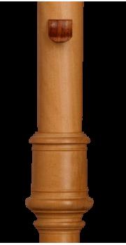 Rosewood Thumb Rest, self adhesive Treble