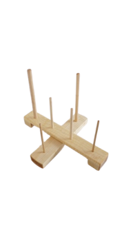 Recorder Cross Stand - Maple (standard compartment)