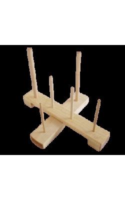 Handmade Cross Recorder Stand - Maple (standard compartment)
