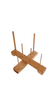 Handmade Cross Recorder Stand - Oak (large compartment)