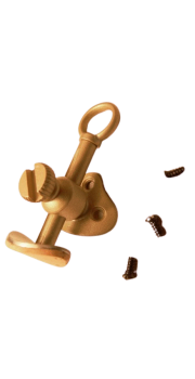Adjustable screw-on thumb rest in brass for Treble, Tenor, Bass & Great Bass recorders