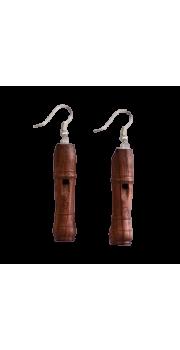 Miniature Recorder - Earrings - Rosewood