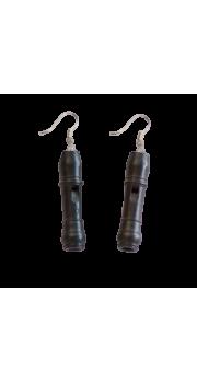 Miniature Recorder - Earrings - Grenadilla