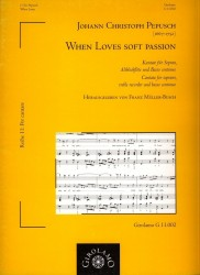Cantata 'When Love's Soft Passion'