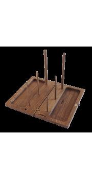 Recorder Box Stand - Walnut