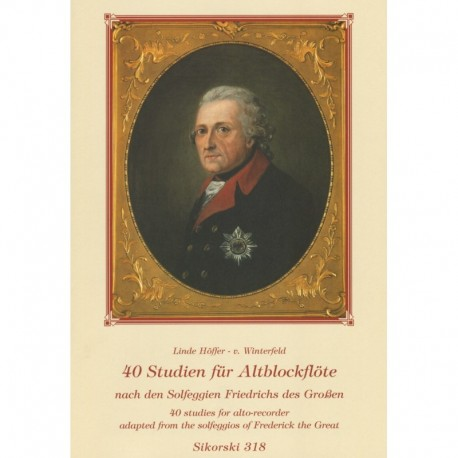 40 Studies for Alto Recorder adapted from Frederick the Great