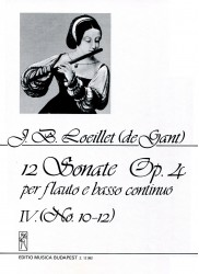 12 Sonatas Op 4, Volume 4, No 10-12