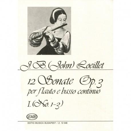 12 Sonatas Op. 3, Volume 1, No. 1-3