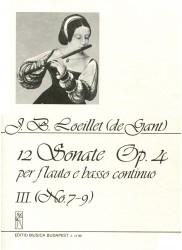 12 Sonatas Op 4, Volume 3, No 7-9