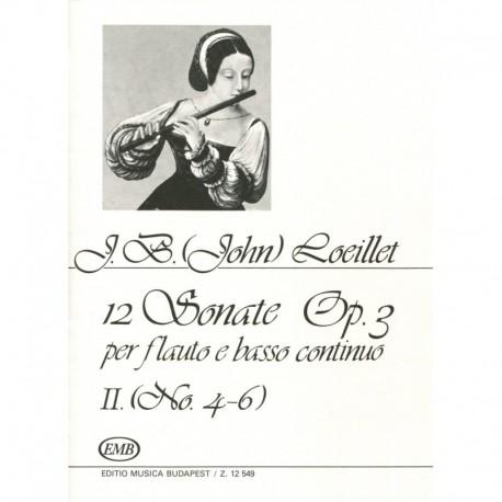 12 Sonatas Op. 3, Volume 2, No. 4-6