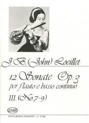 12 Sonatas Op 3, Volume 3, No 7-9